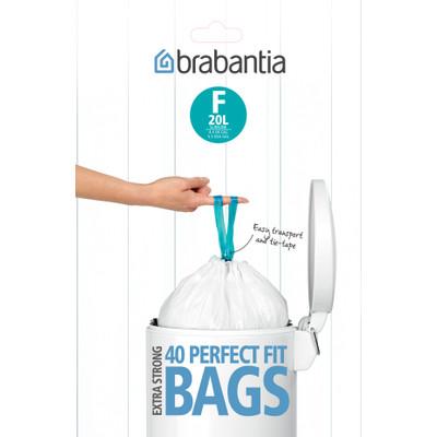 Image of Brabantia Dispenser Pack Afvalzak F - 20 Liter (40 stuks)