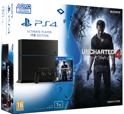 Sony PlayStation 4 1 TB + Uncharted 4: A Thief's End