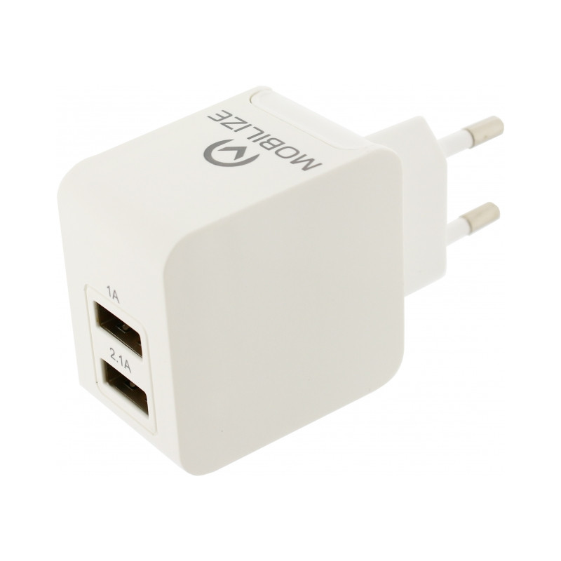 Mobilize Travel Charger Dual USB White 3100 mAh