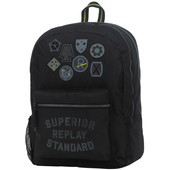 Replay Boys Double Backpack Black Solid