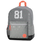 Replay Stars Girls Double Backpack Grey Tonal Stars