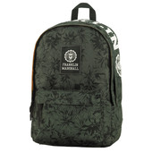 Franklin & Marshall Boys Double Backpack Green Camp