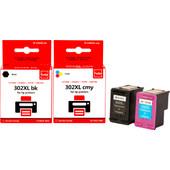 Huismerk HP 302 Cartridge 4-Kleuren XL