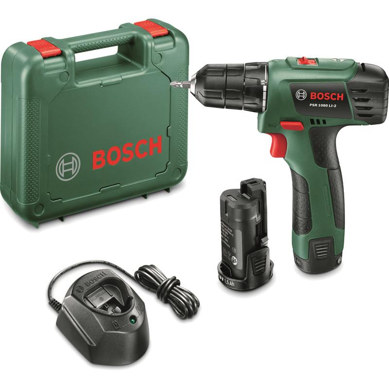 Bosch Accu-schroefboormachine 10.8 V 1.5 Ah Li-ion incl. 2 accu's, incl. koffer