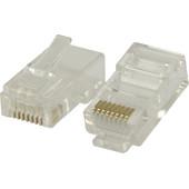 Valueline UTP CAT6 Netwerkstekker Transparant 5 stuks