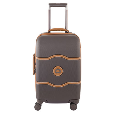 Image of Delsey Châtelet Hard+ 4 Wheel Cabin Trolley Case 55 cm Brown