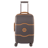 Delsey Châtelet Hard+ 4 Wheel Cabin Trolley Case 55 cm Brown
