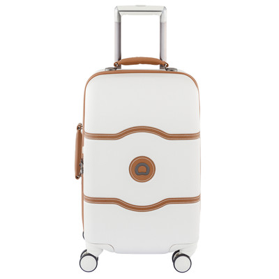 Image of Delsey Châtelet Hard+ 4 Wheel Cabin Trolley Case 55 cm White