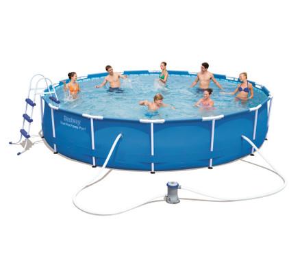 Bestway steel pro 671x396x132 cm zwembad in de aanbieding for Frame zwembad aanbieding