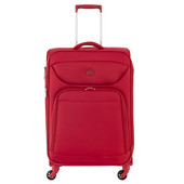 Delsey Lazare 4 Wheel Expandable Trolley Case 68 cm Red