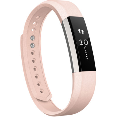 Fitbit Alta Polsband Leather Blush Pink - S