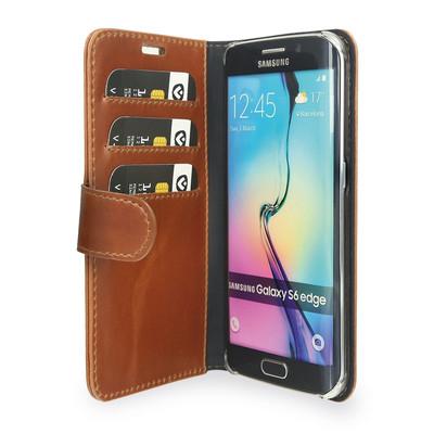 Valenta Booklet Classic Luxe Samsung Galaxy S6 Edge Bruin