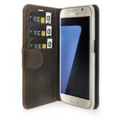 Valenta Booklet Classic Luxe Vintage Samsung Galaxy S7 Bruin