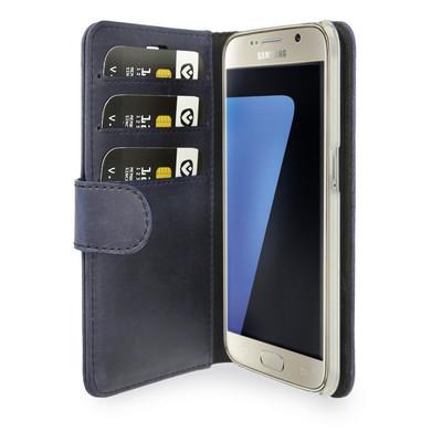Valenta Booklet Classic Luxe Vintage Samsung Galaxy S7 Blauw
