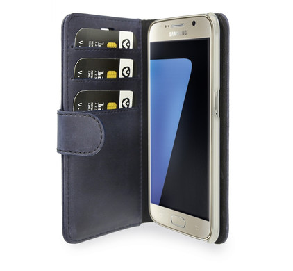 Valenta Booklet Classic Luxe Vintage Samsung Galaxy S7 Blauw