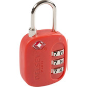 Delsey Travel Necessities TSA 3-Digit Padlock (USA) Red