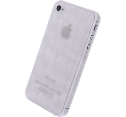 Xccess Honeycomb Cover Apple iPhone 4/4S Wit
