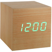 Gingko Cube Click Clock Beuken/Groen