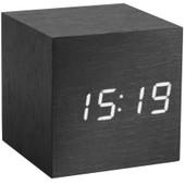Gingko Cube Click Clock Zwart/Wit