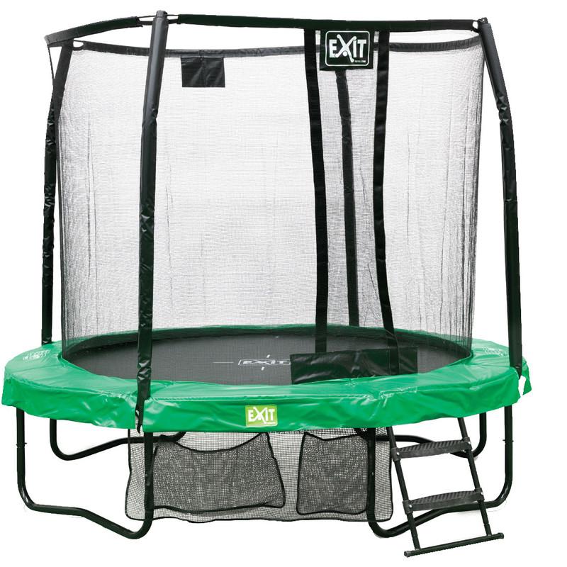 Exit JumpArena rond all-in-1 trampoline groen-grijs 244