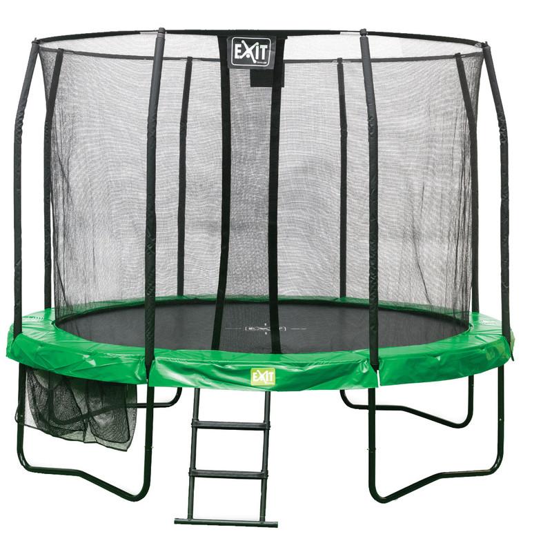 Exit JumpArena rond all-in-1 trampoline groen-grijs 427