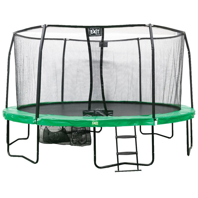 Exit JumpArena rond all-in-1 trampoline groen-grijs 457