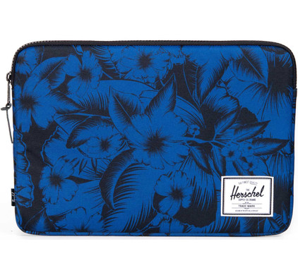 Herschel Anchor Sleeve voor 15'' Macbook Jungle Floral Blue