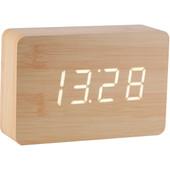 Gingko Brick Click Clock Beuken/Wit
