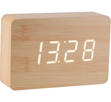 Gingko Brick Click Clock Beuken/Wit