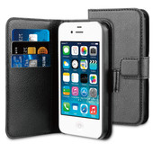 BeHello Wallet Case Apple iPhone 4/4S Zwart