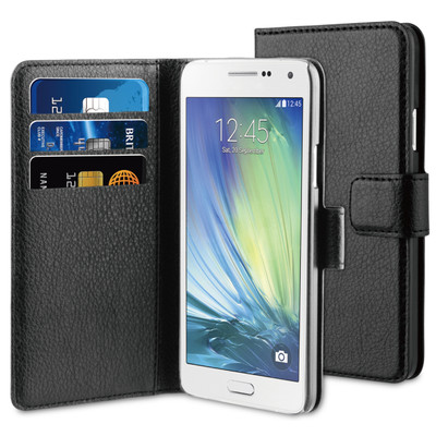 BeHello Wallet Case Samsung Galaxy A3 Zwart