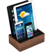 Alldock Docking Station Medium Walnoot Zwart