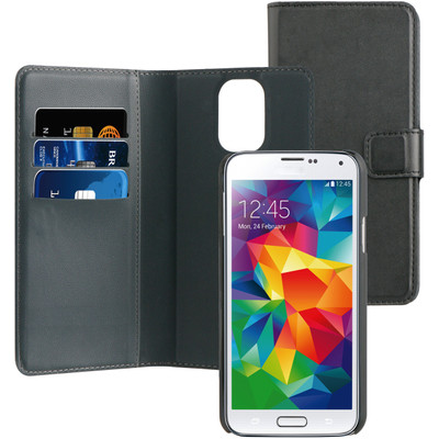 Image of BeHello 2-in-1 Wallet Case Samsung Galaxy S5 / S5 Neo Zwart