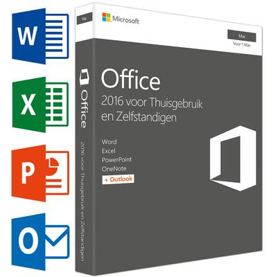 Microsoft Office Mac Thuisgebruik en Zelfstandigen 2016 FR