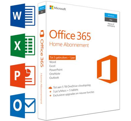 Microsoft Office 365 Home Premium UK 1 jaar abonnement