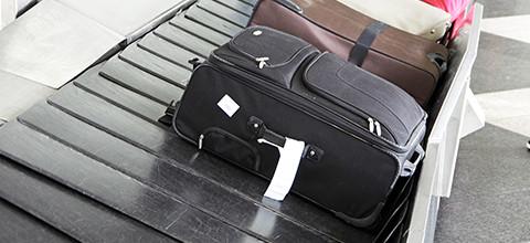 Reizen met het vliegtuig en een zachte koffer:
