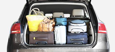 Zachte koffer in auto