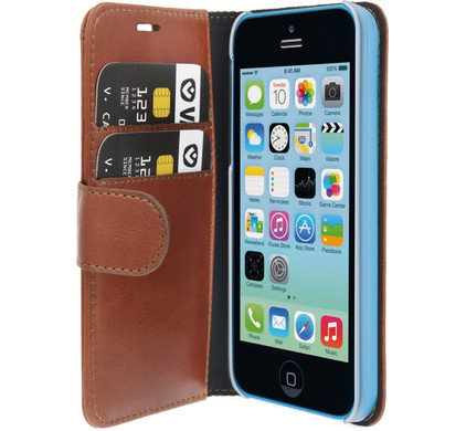 Valenta Booklet Classic Luxe Apple iPhone 5C Bruin