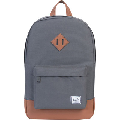 Herschel Heritage Mid-Volume Charcoal/Tan Synthetic Leather