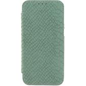 Mobilize Slim Booklet Book Case Samsung Galaxy S7 Edge Soft Snake Groen