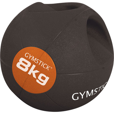 Gymstick Medicine bal - Met Handvaten - 8 kg - Zwart / Oranje