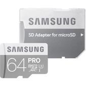 Samsung Pro microSDXC 64 GB Class 10 + SD Adapter