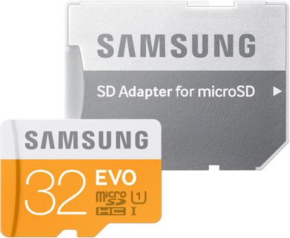 Samsung microSDHC Evo 32 GB Class 10 + SD Adapter