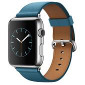 Apple Watch 42mm Zilver/Marineblauw Klassiek Leer