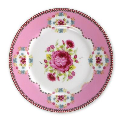 Image of Pip Studio Floral Roze Gebaksbord 17 cm