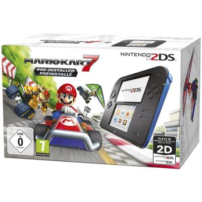 Image of Nintendo 2DS (Black Blue) + Mario Kart 7