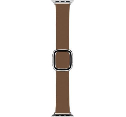Apple Watch 38mm Polsband Modern Leer Bruin - M