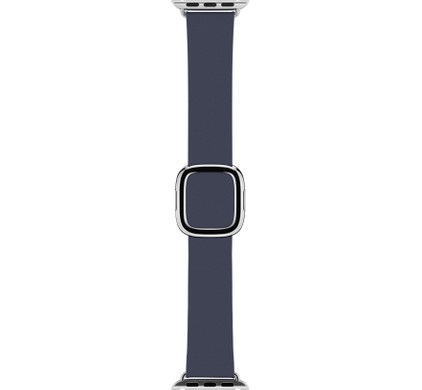 Apple Watch 38mm Polsband Modern Leer Middernachtblauw - L