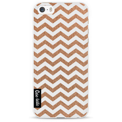 Image of Casetastic Softcover Apple iPhone 5/5S/SE Copper Chevron
