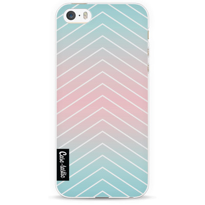 Image of Casetastic Softcover Apple iPhone 5/5S/SE Mint Stripes